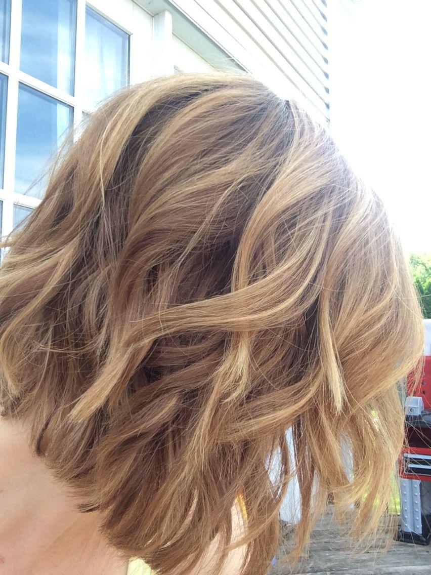 Balayage Warm Blonde Bob In 2019 Balayage Hair Blonde Bob