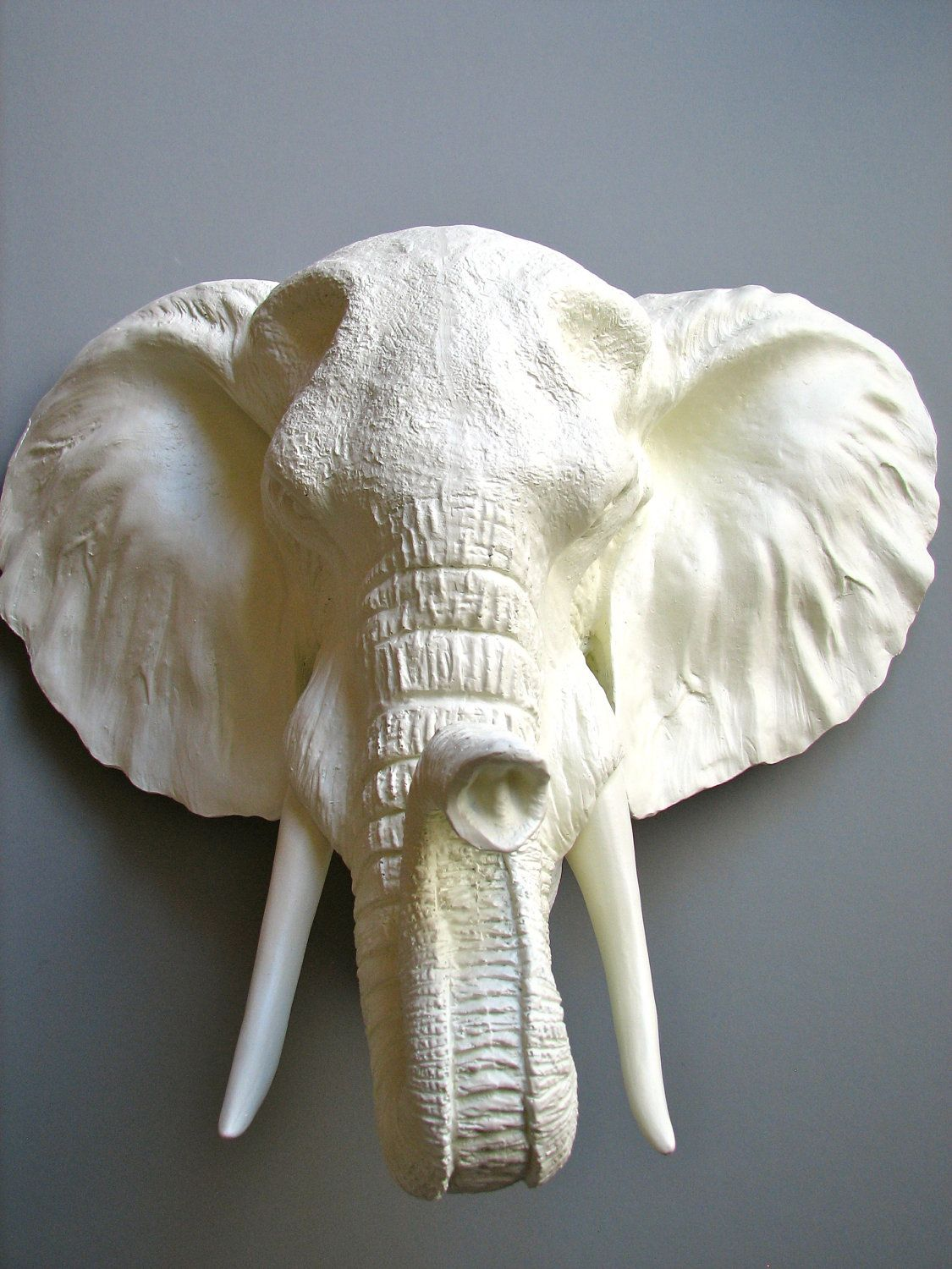 Faux Taxidermy Elephant Head Pinda the Elephant. 130.00