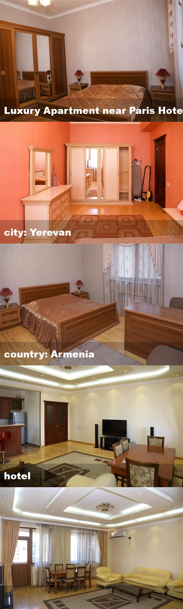 Luxury Apartment near Paris Hotel, city Yerevan, country