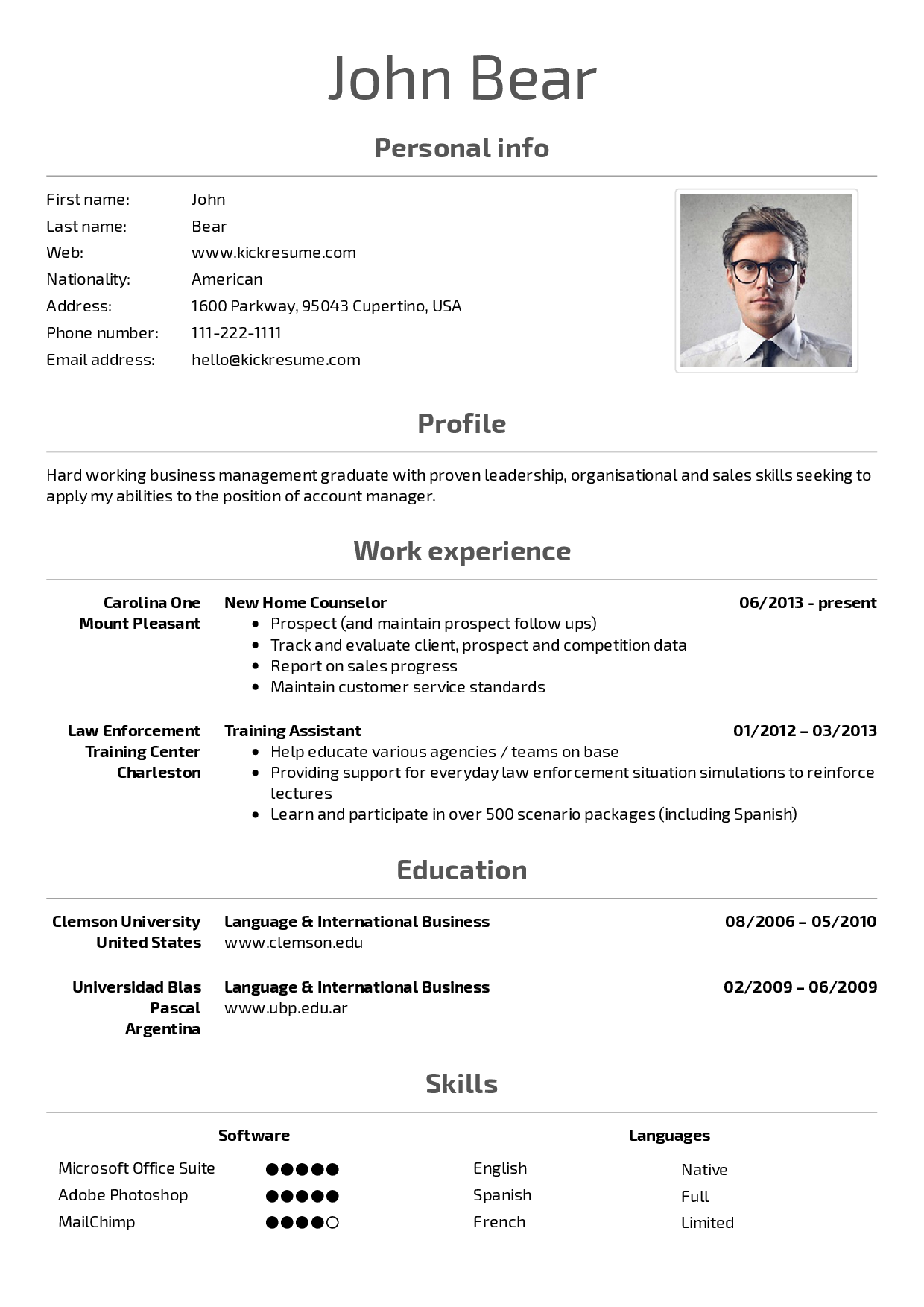Pin by Hannah Wolfe on Resume + etc (With images) Resume