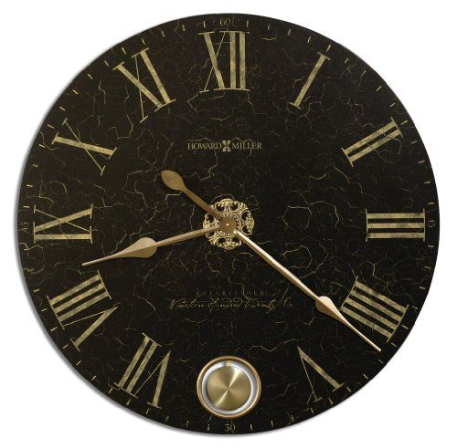 Howard Miller 620474 London Night Gallery Wall Clock Be Sure To Check Out This Awesome Product Black Wall Clock Gallery Wall Clock Oversized Wall Clock