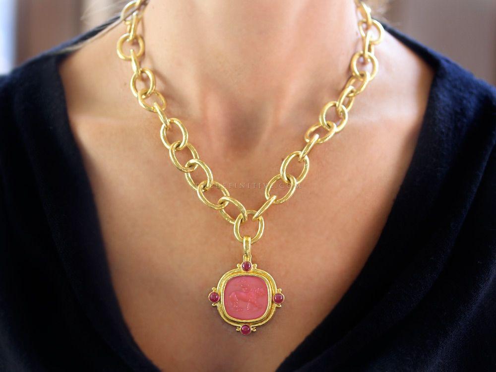 Elizabeth Locke Pink Venetian Glass Earring Pendants a8C7tIStNn