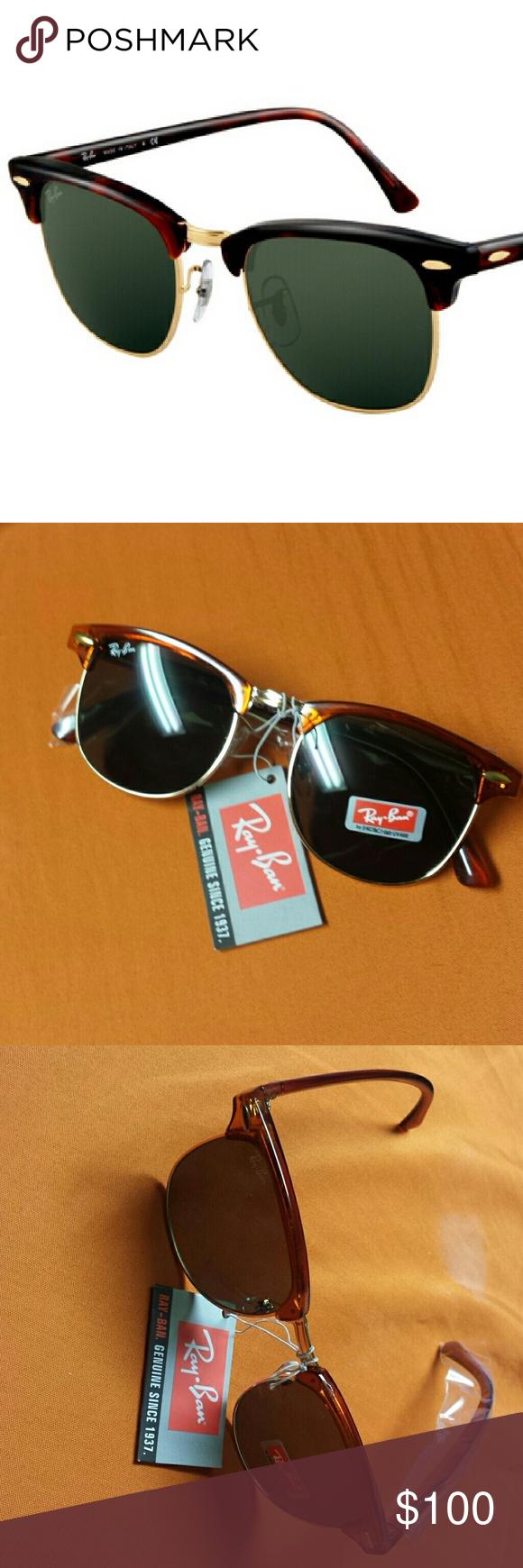 Ray Ban Clubmaster Sunglasses NWT | Clubmaster sunglasses, Ray ban ...