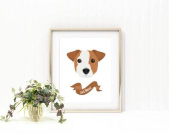 Jack Russell terrier dog print/ dog print/ pet print/ pet name print/custom pet print/ custom dog print/custom pet name art/ puppy print