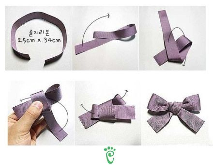 Just remenber to put the centre loop facing you all the time! Ribbon go over or under the loop depending on