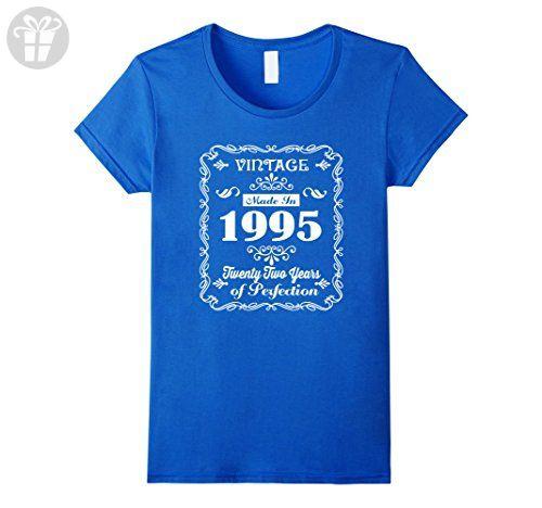 Womens Made In 1995 T-Shirt 22th Birthday Gift T Shirt ...