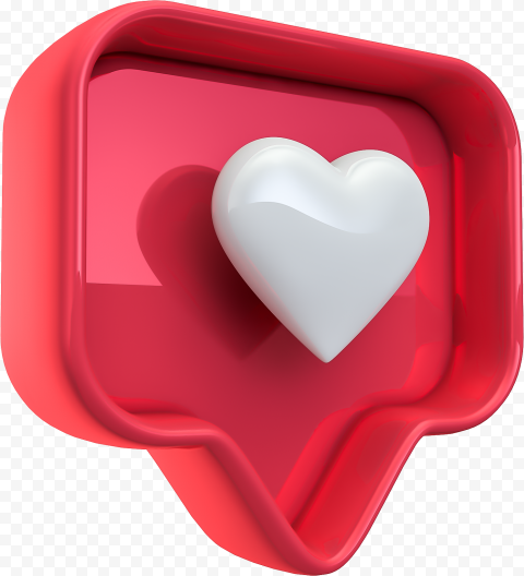 3d Instagram Like Heart Notification Icon Citypng In 2021 Instagram Icon Best Background Images
