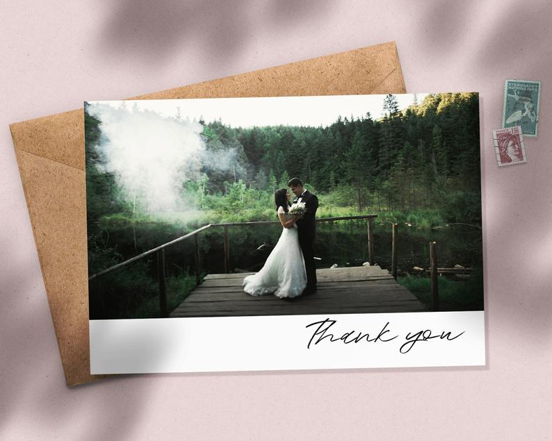 Wedding Thank You Cards With Photo Thank You Cards Wedding | Etsy # thank you Parenting Wedding Thank You Card with Photo, Thank You Wedding Cards, Thank You Card Wedding, Personalised Thank You Cards, Thank You Photo Card #085