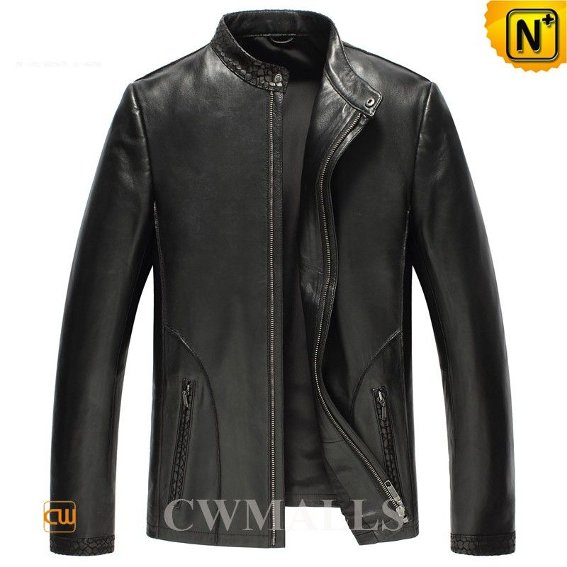 457ef503f Mens Embossed Leather Biker Jackets CW850401 Mens designer leather ...