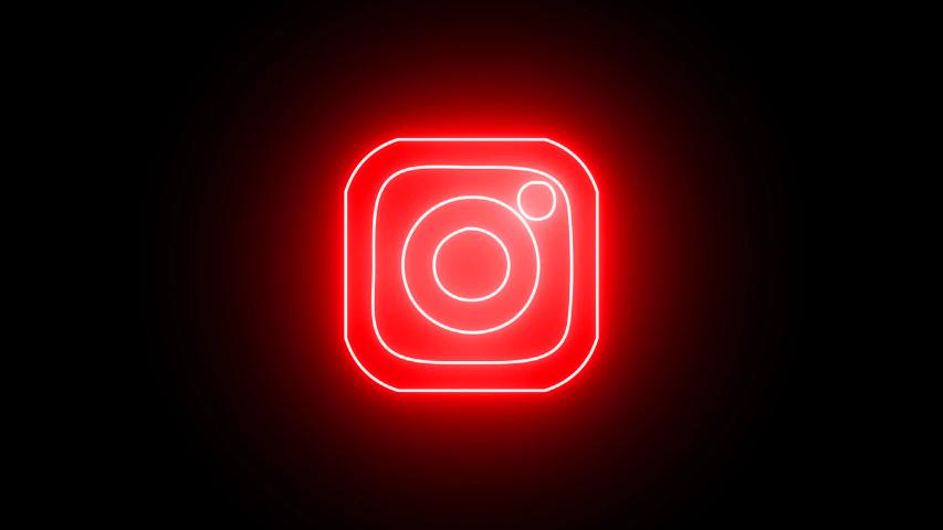 Glowing Instagram Icon Red Wallpaper Iphone Neon Cool Neon Signs Dark Wallpaper Iphone