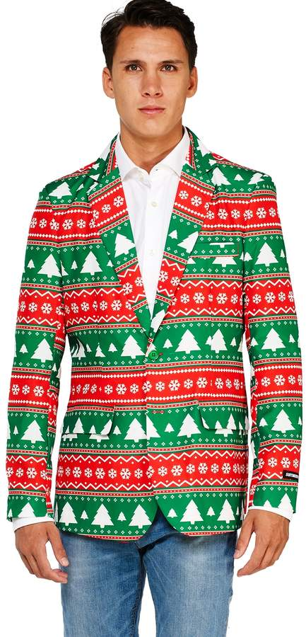 cd838a042a6 Licensed Character Men s OppoSuits Fairisle Christmas Tree Blazer ...