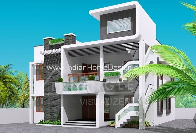 Superbe Next Gen Modern House Elevation Design Photo From Triangle Visualizer Team