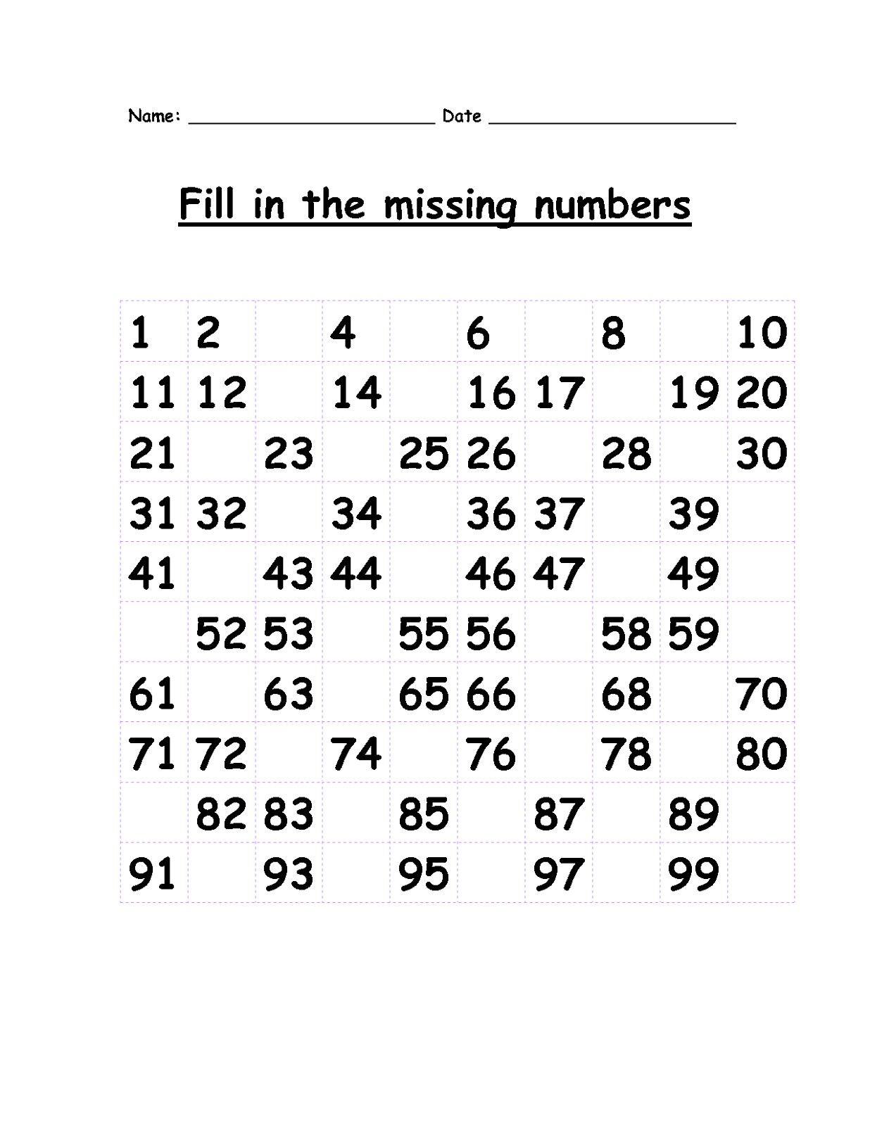 2 Free Math Worksheets For 1st Grade Missing 1st Grade