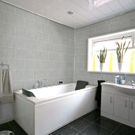 Bathroom Light Grey Tiles buy dumalock 3 tile stone galet light grey - decor cladding centre