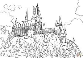 Image Result For Outline Of Hogwarts Castle Harry Potter Coloring Pages Harry Potter Drawings Castle Coloring Page
