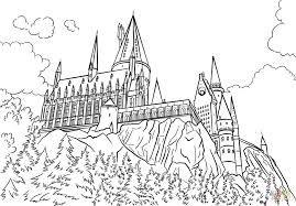Image Result For Outline Of Hogwarts Castle Harry Potter