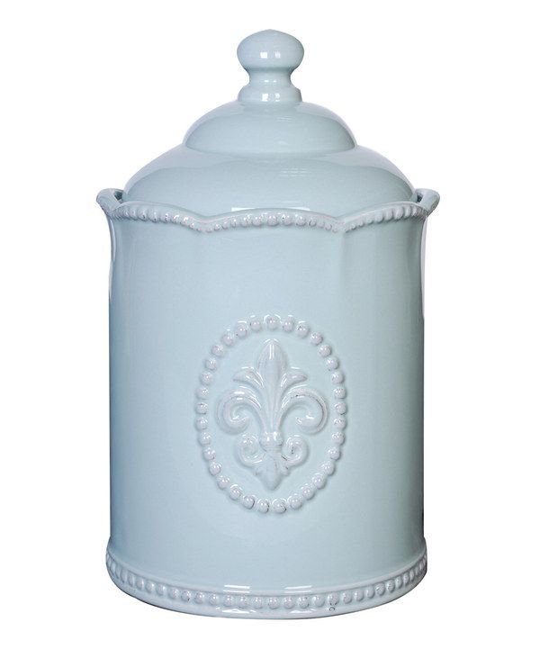 Look at this Blue Lidded Canister on #zulily today!
