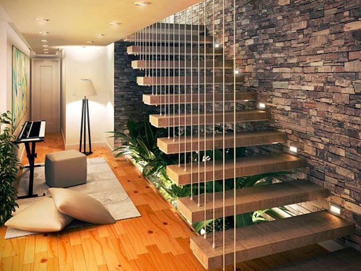 Resultado de imagen para jardin bajo escaleras | sala ...