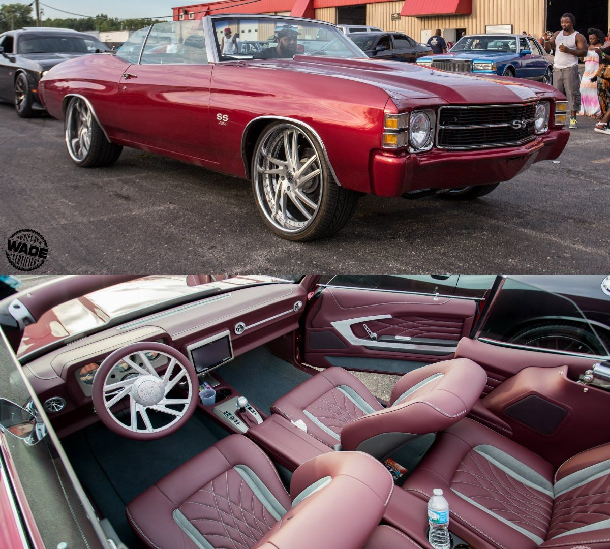 Video clip of 71 chevelle convertible becausess dave vos customs_by_vos custom chevelle door panel panels red burgundy grey silver black lux