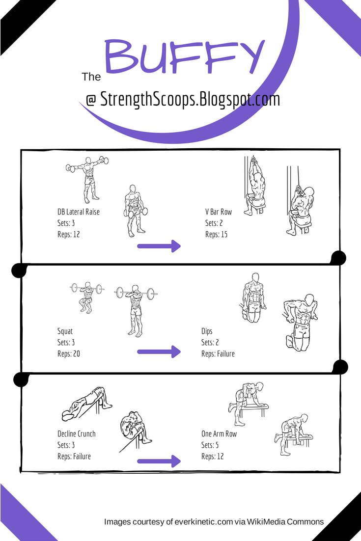 Check out this #buffythevampireslayer inspired #workout! http://strengthscoops.blogspot.com/2014/09/routine-vampire-slayer.html