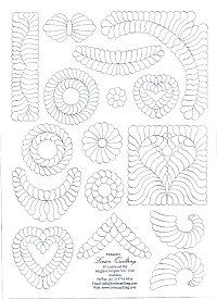15 continuous quilting designs for hand or machine quilting ... : feather quilting designs - Adamdwight.com