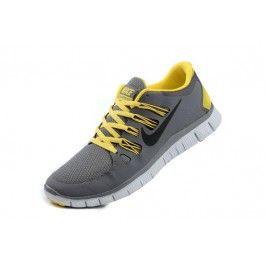 Nike Free 5.0+ Herresko Mørkgrå Gul | Nike sko tilbud | billige Nike sko på nett | Nike sko nettbutikk norge | ovostore.com