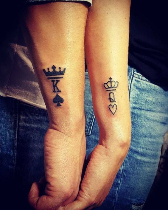 Crown Tattoo Ideas Crown Tattoos For Couples Crown Tattoos For Guys Crown Tattoos For Her Crown Tattoos For Him C Couple Tattoos Matching Tattoos Tattoos