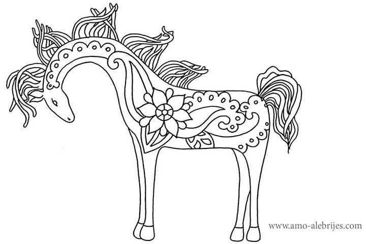 It is a graphic of Gratifying Alebrijes Coloring Pages