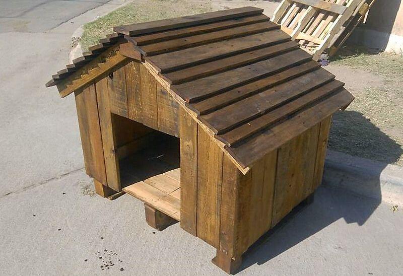DIY Wooden Pallets Made Dog House Pallet dog house