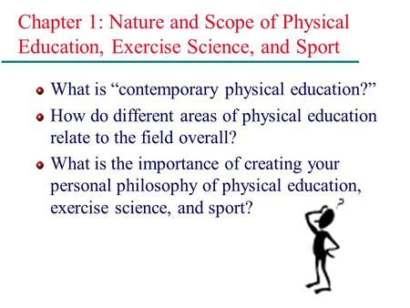 Chapter 1 Nature and Scope of Physical Education, Exercise - exercise science resume