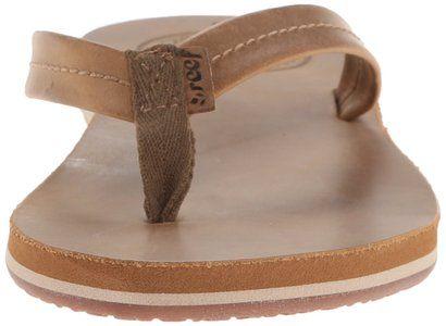 kijk uit voor prijs verlaagd schoenen voor goedkoop Reef Women's Chill Leather Flip Flop, Tobacco, 7 M US ...