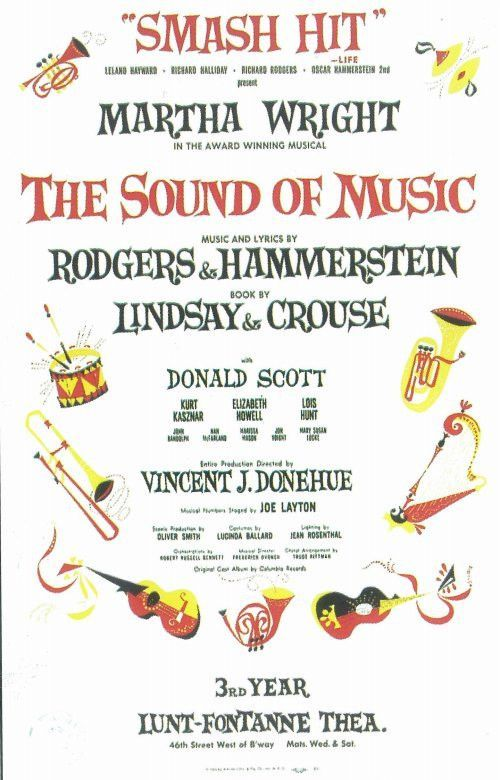 The Sound Of Music 11x17 Broadway Show Poster 1959 Sound Of Music Music 11x17