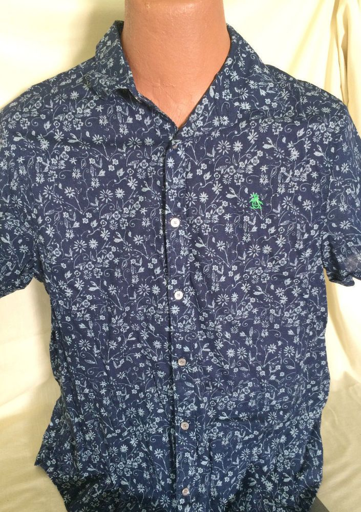 9ec19200 Original Penguin by Munsing Wear Heritage Slim Fit Short Sleeve Hawaiian  Shirt #Penguin #ButtonFront