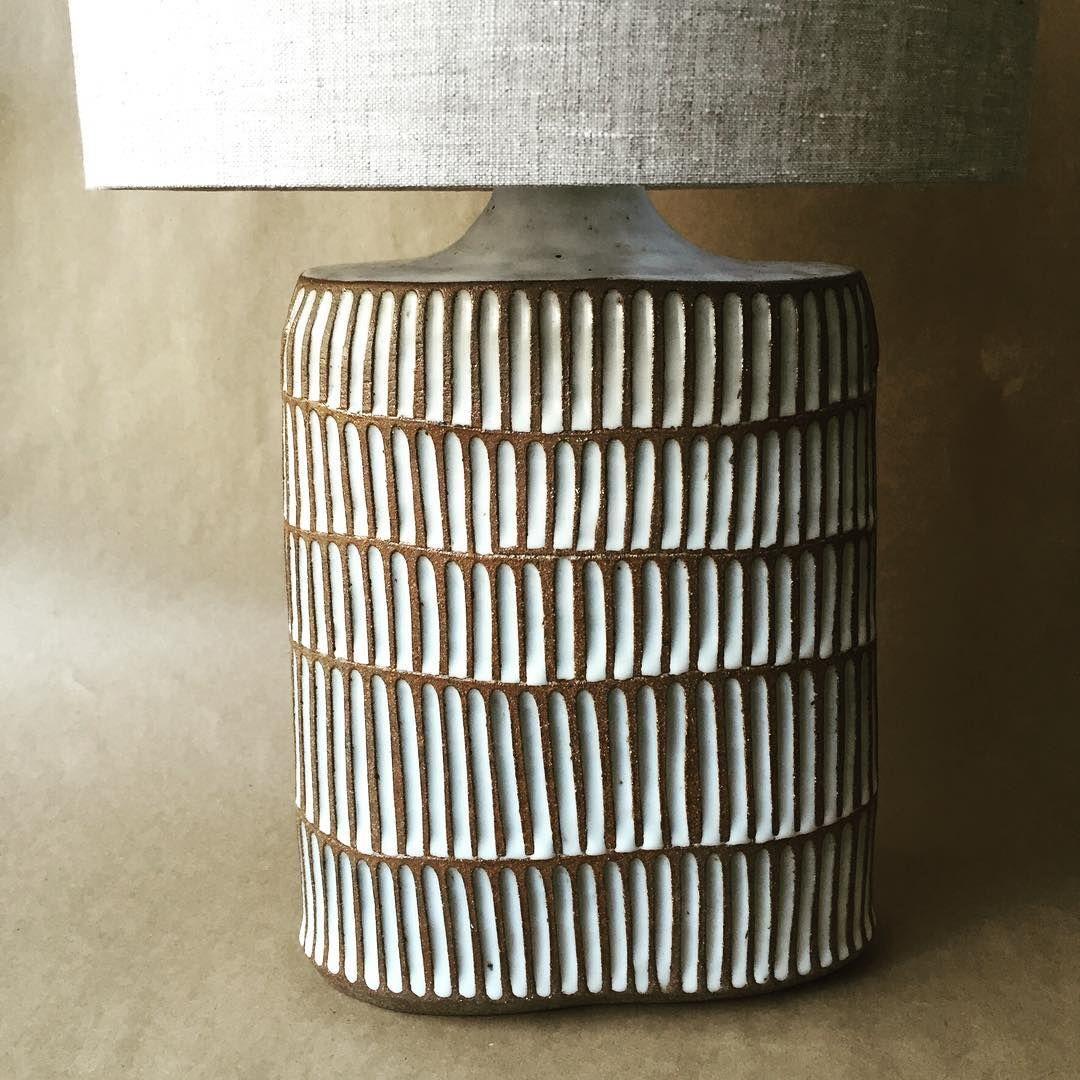 lighting and ceramics. Hand Made Pottery Lamp. Lighting And Ceramics