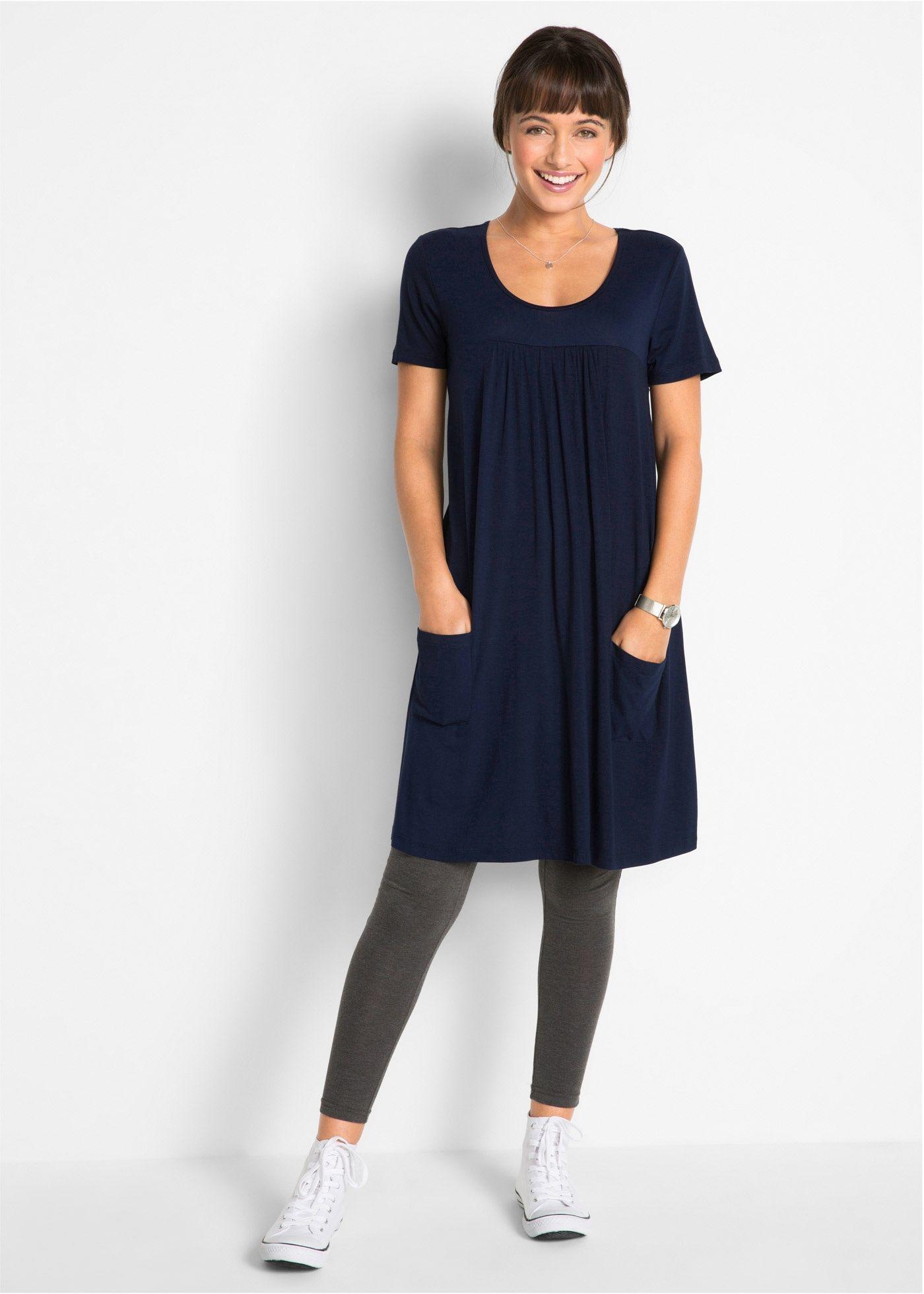 fea05026ff4 Посмотретьпрямо сейчас  Очаровательное трикотажное платье-блузон марки bpc  наверняка станет вашей любимой вещью в летнем гардеробе.