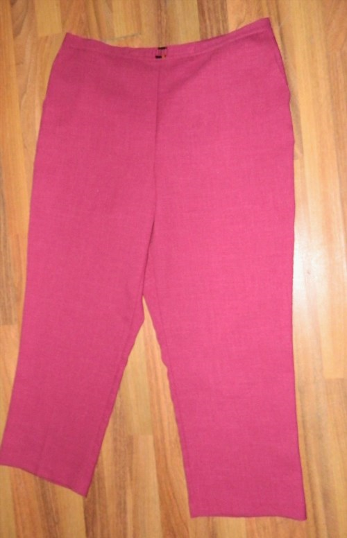 15.79$  Watch now - http://viwli.justgood.pw/vig/item.php?t=qdw25zm32221 - Womens ALFRED DUNNER Red Casual Stretch Pants size 20 / 40-46x29
