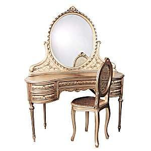 Vintage Style Ladies Vanity Dressing Table With Mirror ...