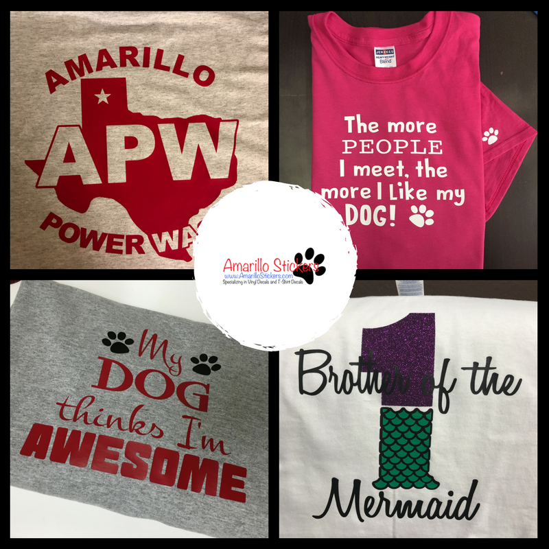 Amarillo stickers creates custom t shirts for any event contact us now to place
