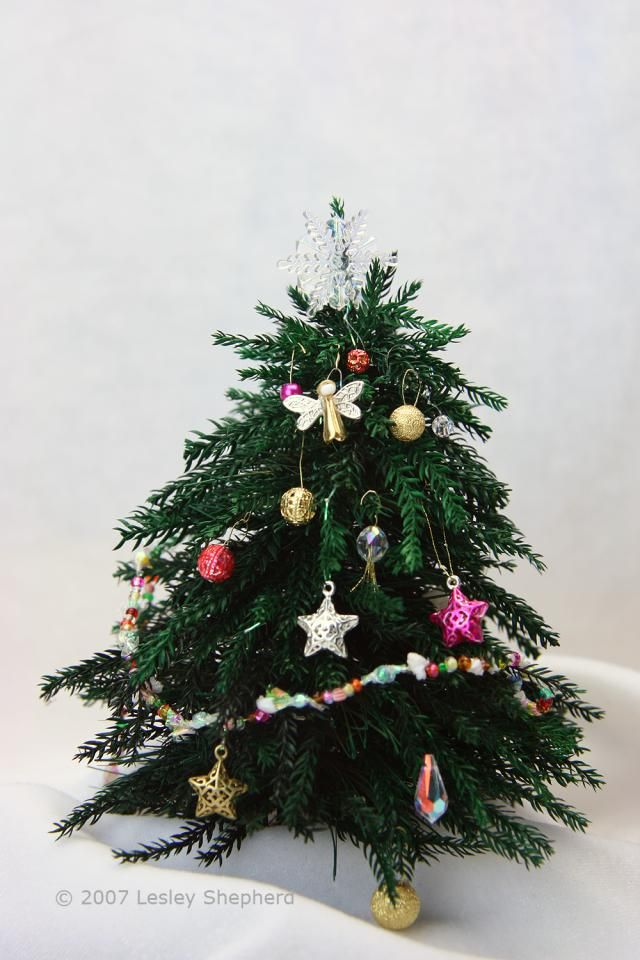 miniature projects that use beads as a base make miniature christmas tree ornaments from beads