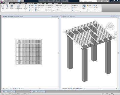 Trellis Modelling With Glazing Roof Option Trellis Autodesk Revit Autodesk