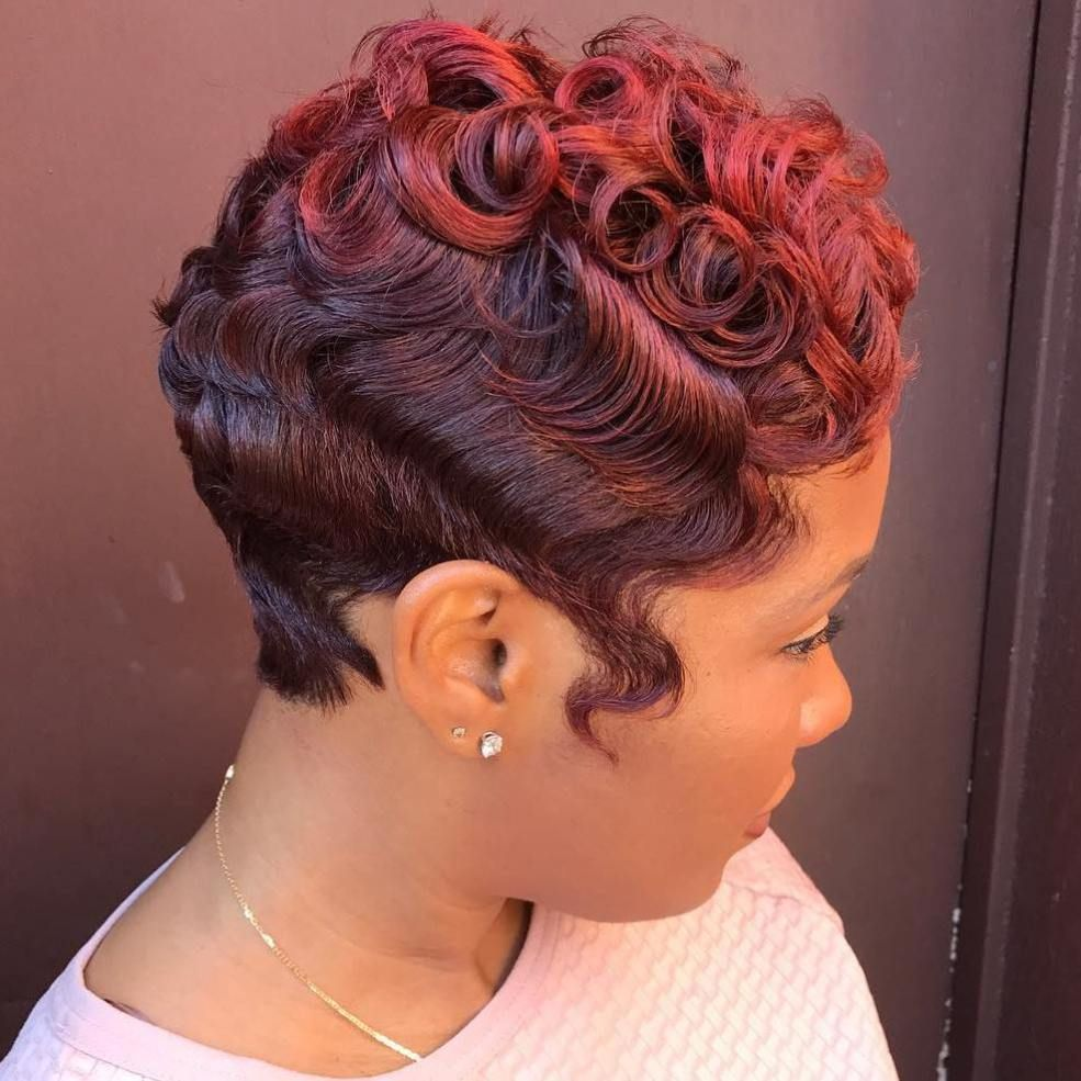 African american curly vintage pixie loving the hair pinterest