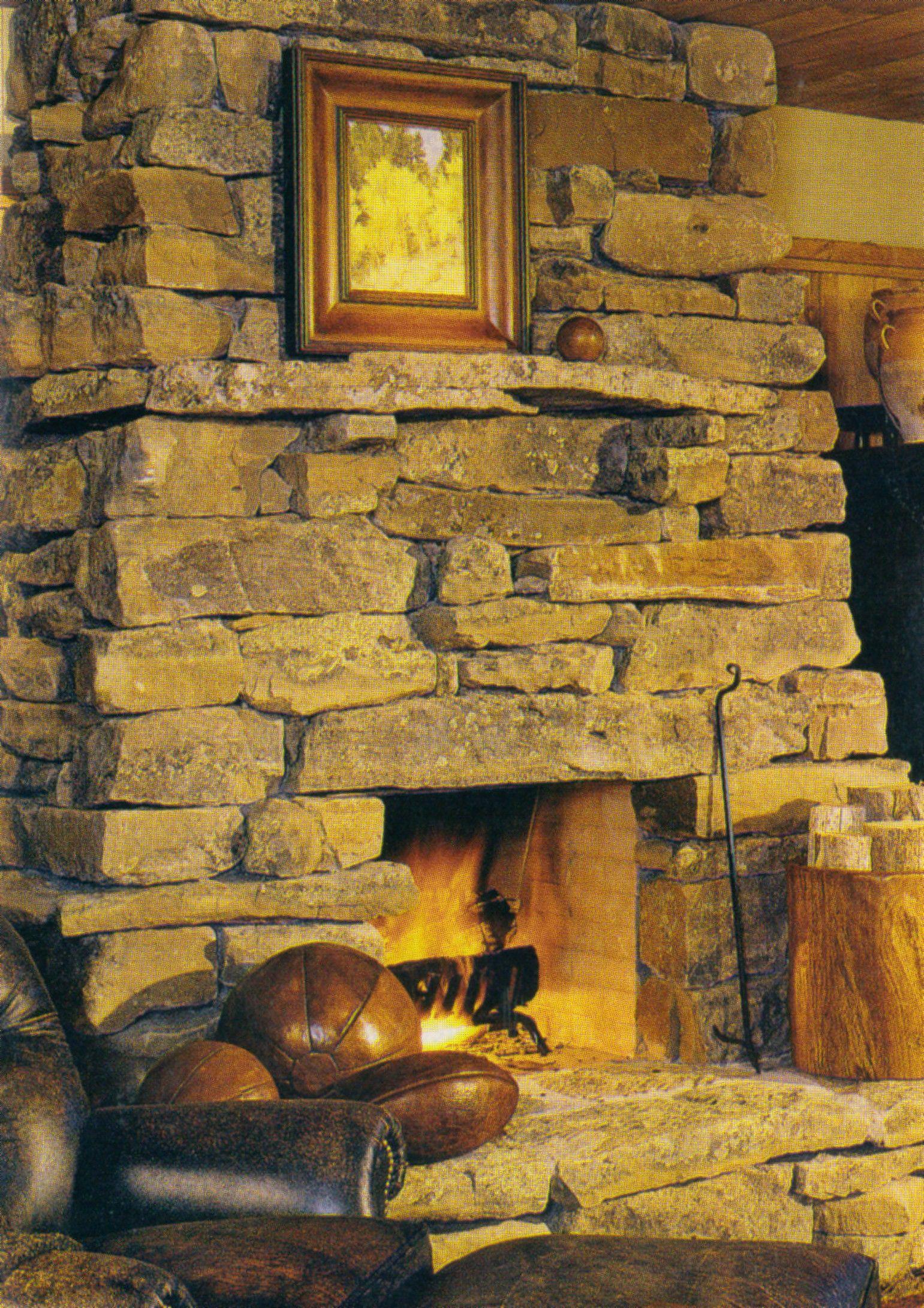 Field Stone Fireplace fieldstone fireplaces | fieldstone fireplace with integral mantle
