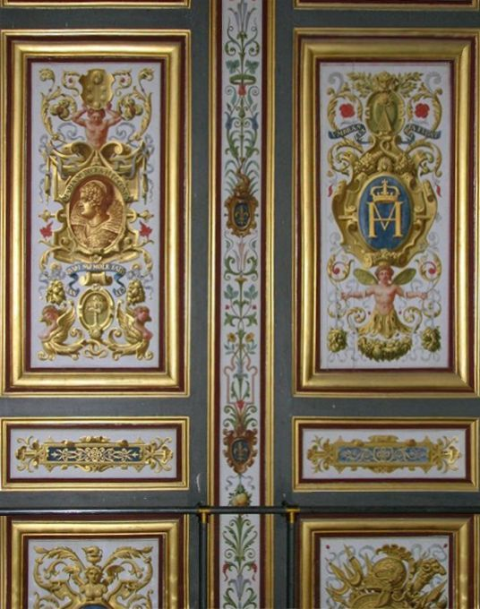 gilded gold-trimmed interior doors - Google Search