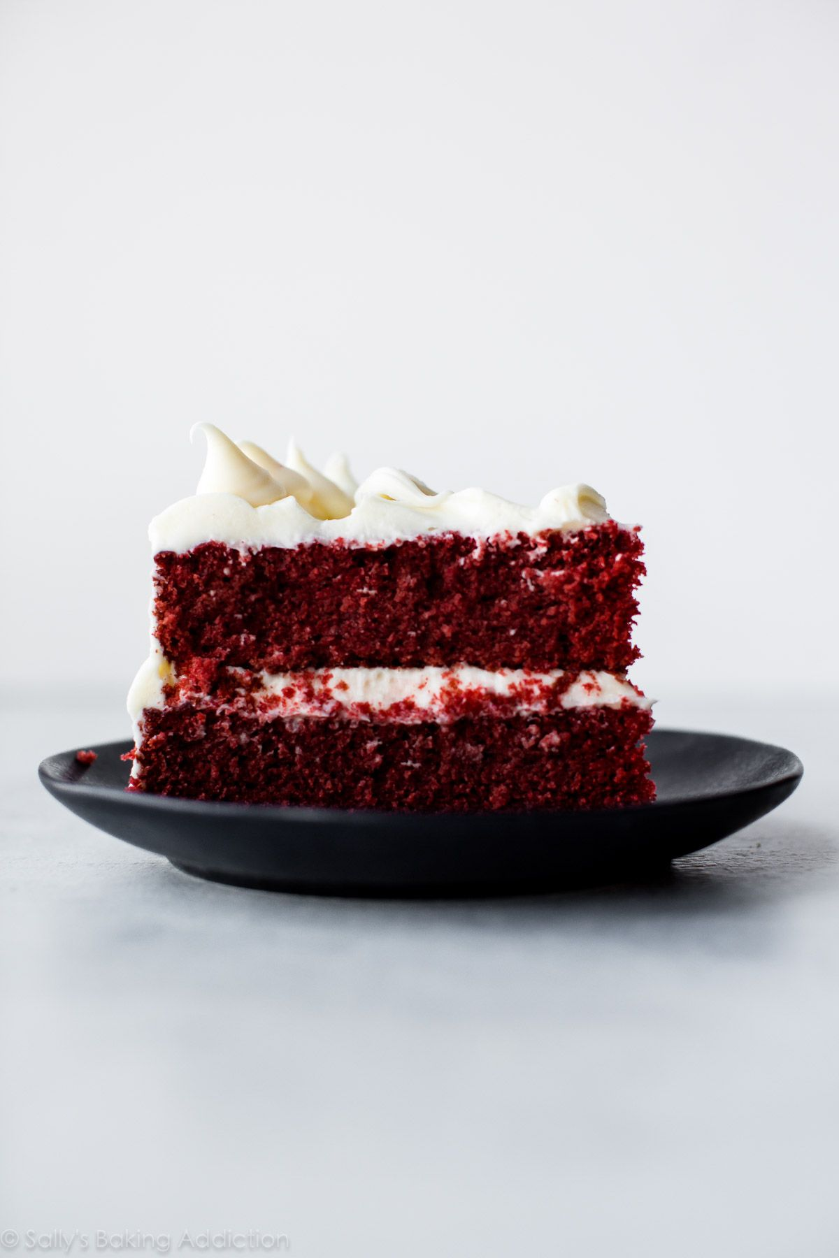 Red Velvet Cake With Cream Cheese Frosting Velvet Cake Recipes Layer Cake Recipes Red Velvet Cake Recipe