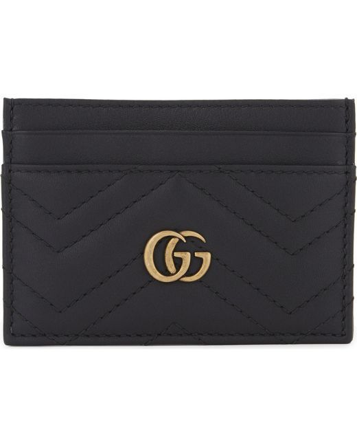 a564d163465 Women s Black Gg Marmont Quilted Leather Cardholder in 2019 ...