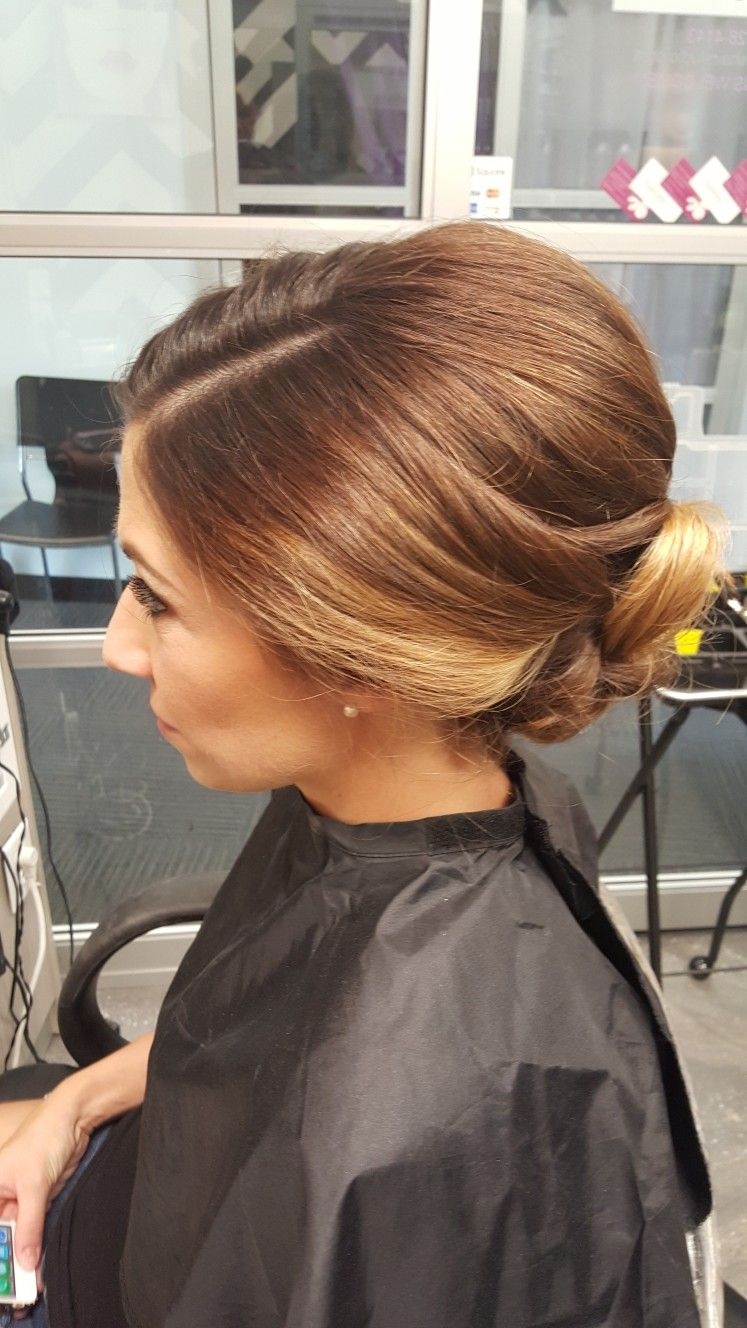 sleek and clean wedding updo. thick short hair! | bridal