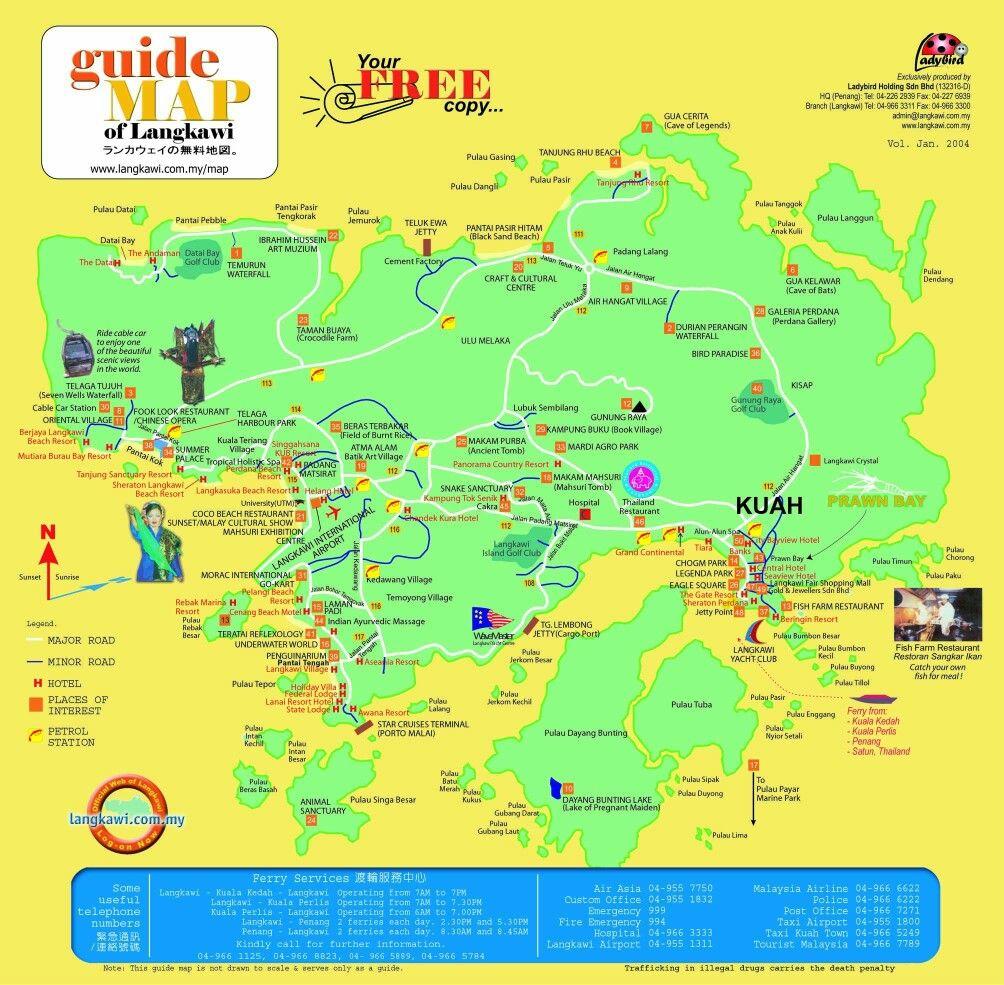 Malaysia Beach: Tourist Map, Map, Free Maps