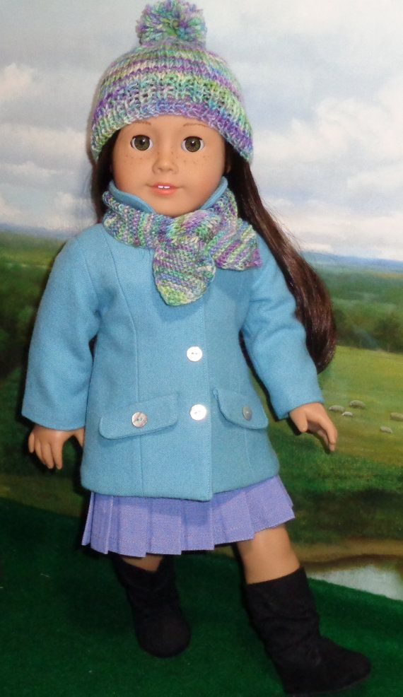 Turquoise  Jacket and Pleated Skirt Outfit by SugarloafDollClothes