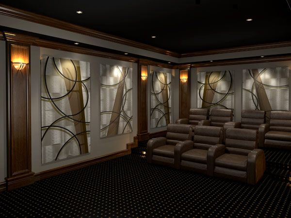 home theater acoustic design. acoustic art panels  Acoustic Panels Angled Curves Home Theater DesignTheater