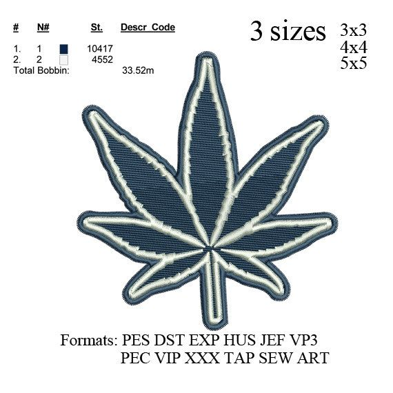 Marijuana Cannabis Leaf Embroiderydallas Cowboys Logo Embroidery